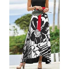 Print Sleeveless A-line Skater Elegant/Vacation Maxi Dresses