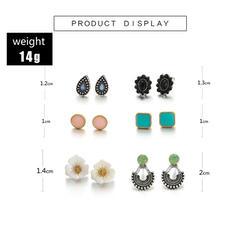 Charme Mais quente Liga Conjuntos de jóias Moda Brincos (Conjunto de 5 pares)