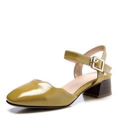 Femmes Similicuir Talon bottier Sandales Bout fermé chaussures