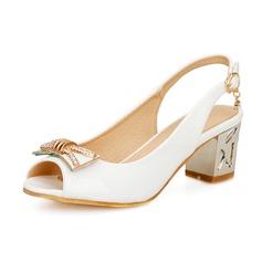 Naisten Keinonahasta Chunky heel Sandaalit Kantiohihnakengät kengät