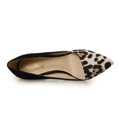 Women's Leatherette Stiletto Heel Pumps With Animal Print Split Joint shoes