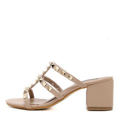 Квадратні підбори Сандалі взуття на короткій шпильці Тапочки з Заклепка взуття