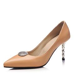 Dla kobiet Skóra ekologiczna Obcas Stiletto Czólenka Zakryte Palce Z Stras/ Krysztal Górski obuwie