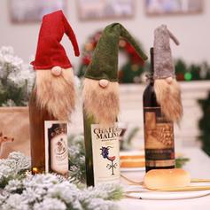 Gnome Merry Christmas Non-Woven Fabric Christmas Décor Bottle Cover