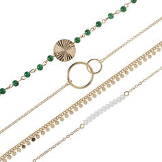 Fashionable Cool Alloy With Imitation Pearl Women's Ladies' Bracelets (Set of 4 pairs)