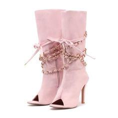 Women's Cloth Stiletto Heel Pumps With Zipper shoes