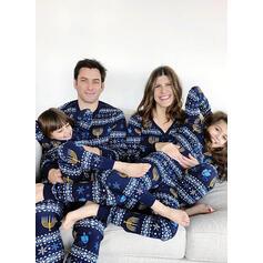 Csíkos Nyomtatás Családi Karácsonyi pizsamák