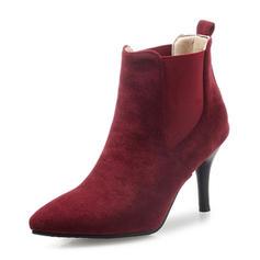 Femmes Suède Talon stiletto Bout fermé Bottes Bottines avec Bande élastique chaussures