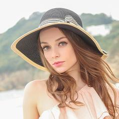 Signore Gorgeous/Elegante Rafia paglia Cappello a bombetta / Cloche
