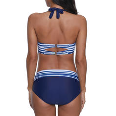 Stripe Halter Sexy Bikinis Swimsuits