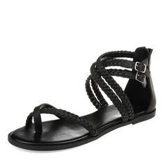 Mulheres PU Sem salto Sandálias Sem salto sapatos