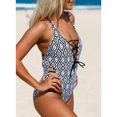 Plaid Strap Sexy One-piece Swimsuits