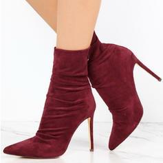 De mujer PU Tacón stilettos Salón Botas con Cremallera zapatos