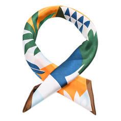 Geometrische Print Nek/Plein Vierkante sjaal