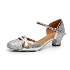 Women's Ballroom Heels Sparkling Glitter With Ankle Strap Buckle Ballroom