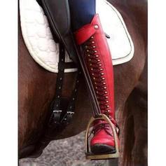 Donna Similpelle Tacco basso Stivali con Rivet Cerniera scarpe