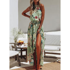 Print/Floral Sleeveless A-line Asymmetrical Casual/Vacation Dresses