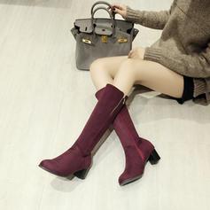 Femmes Suède Talon bottier Escarpins Bottes avec Zip chaussures