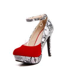 Naisten Mokkanahka Piikkikorko Avokkaat Platform kengät