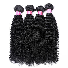 "4""*4"" 3A Kinky Curly Human Hair Human Hair Weave (Sold in a single piece) 100g"