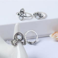 Fashionable Alloy Acrylic With Acrylic Women's Fashion Rings (Set of 5)