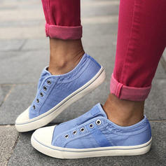 Pentru Femei Pânză călcâi plat Balerini Închis la vârf pantofi