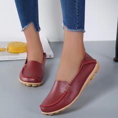 Mulheres Couro Sem salto Sem salto com Outros sapatos