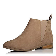 Women's PU Low Heel Ankle Boots With Elastic Band shoes