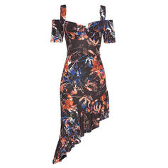 Print/Floral Short Sleeves Sheath Above Knee Sexy/Casual Dresses