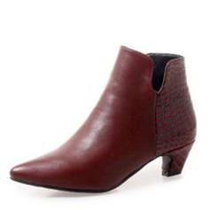 Femmes Similicuir Talon bas Bottes Bottines avec Semelle chaussures