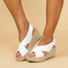 PU Wedge Heel Sandals Wedges Peep Toe Heels shoes