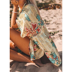 Floral Print Sports Boho Cover-ups Swimsuits