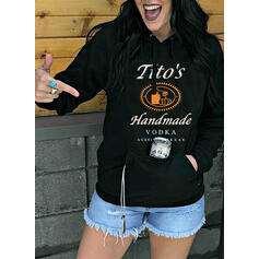 Print Halloween Figure Pockets Long Sleeves Hoodie