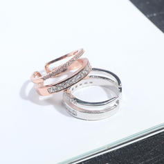 Beautiful Alloy Zircon With Zircon Ladies' Fashion Rings (Sold in a single piece)