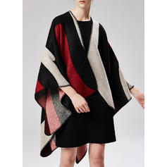 Color Block/Retro/Vintage Oversized/attractive/Cold weather Wraps