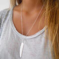 Einfache Legierung mit Feder Halsketten