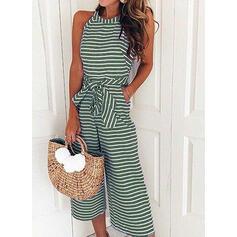 Striped Sleeveless Casual Dresses