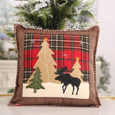 Merry Christmas Polyester Pillow Cover