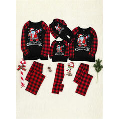 Papai Noel Xadrez Carta Impressão Família Combinando Natal Pijama