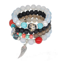 Beau Alliage Acrylique Perles de verre Dames Bracelets de mode