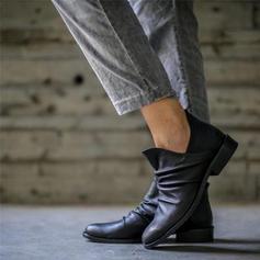 Dla kobiet PU Niski Obcas Kozaki obuwie