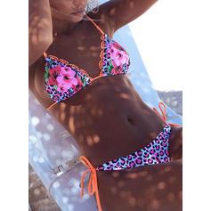 Květiny tanga mikro Ohlávka Sexy Bikiny Plavky