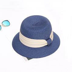 Dames Le plus chaud Raphia paille avec Bowknot Chapeau de paille/Chapeaux de plage / soleil