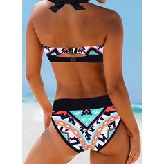 Print Halter Sexy Boheems Bikini's Badpakken