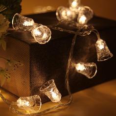 Glocke Fröhliche Weihnachten Kunststoff Lichter Weihnachtsdekoration