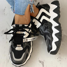 Women's Mesh PU Casual Outdoor Athletic With Lace-up shoes