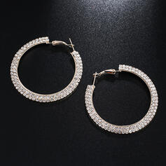 Shining Alloy Rhinestones Earrings (Set of 2)