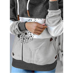 Color Block Dandelion Long Sleeves Hoodie