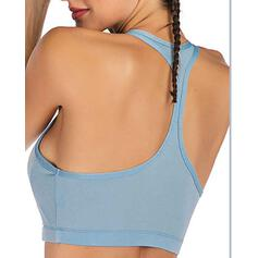 Spaghetti Straps Sleeveless Solid Color Sports Bras