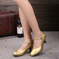 Women's Character Shoes Heels Pumps Patent Leather With Ankle Strap Character Shoes